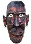 Stele aus Holz, Moto Wood Art, Art Deko, Sklave, Linde auf Edelstahlrohr , ca 80 cm