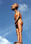 Stele aus Holz, Moto Wood Art, Art Deko, Der Diener, Figuren aus Holz, Esche, ca 210 cm