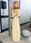 Stele aus Holz, Moto Wood Art, Art Deko, Engel, Figuren aus Holz, Buche ca 160 cm