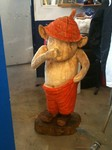 Stele aus Holz, Moto Wood Art, Art Deko, Troll, Figuren aus Holz, Weisstanne, ca 150 cm