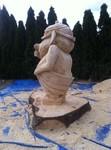 Stele aus Holz, Moto Wood Art, Art Deko, Troll aus Holz,Weisstanne, ca 150 cm