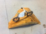 Stele aus Holz, Moto Wood Art, Art Deko, Mountain Bike, ca 10 cm