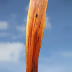 stele aus Holz, Moto Wood Art, Von der Natur geformt, Zwetschge ca 100 cm