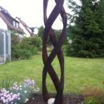 Stele aus Holz, Moto Wood Art, Winding, Eiche, ca 200 cm