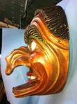 Stele aus Holz, Moto Wood Art, Art Deko, Zepfenhaner Giasbachhexe, Holzmasken, FasttnachtslarvenLinde